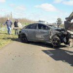 Un hombre de Urdinarrain sufrió heridas tras volcar con su auto en Ruta Provincial 39