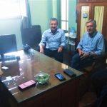 El intendente Sergio Martínez se reunió con la directora departamental de escuelas