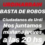 Vecinos de Urdinarrain se autoconvocan para reclamar por los robos