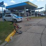 Una camioneta y una bicicleta chocaron en el centro de Urdinarrain