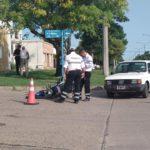Accidente en la intersección de calles Blvr. Rivadavia y Héroes de Malvinas