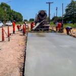 Destacan el importante avance de la Obra de Pavimentación de la Ruta 51
