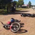 Fuerte accidente entre dos motos en el Barrio Butelli