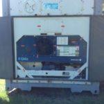 Vandalizaron el contenedor reefer de Acedu que está en el Polideportivo Municipal
