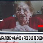 Elvira la abuela de 104 años que vivió en Urdinarrain y pidió que te quedes en casa