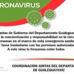 COVID-19: Comunicado desde la Coordinación y las Juntas de Gobierno del Departamento Gualeguaychú