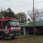 Bomberos de Urdinarrain trabajaron en un incendio en una chimenea en una vivienda