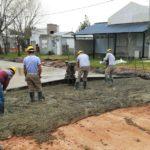 Continúan las obras de pavimentos en Urdinarrain