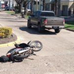 Se produjo un accidente entre una camioneta y una moto