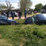 Fuerte accidente entre dos autos en Urdinarrain