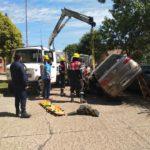 Urgente: El meteorólogo Eduardo Aubert protagonizó un espectacular accidente en el centro de Urdinarrain