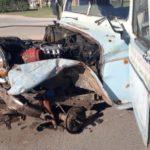 Fuerte accidente frente al Parque Industrial de Urdinarrain