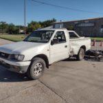 Accidente de tránsito entre una camioneta y una moto en Urdinarrain