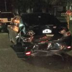 Una camioneta chocó un auto frente a la terminal de Ómnibus de Urdinarrain y se dio a la fuga