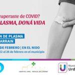En Urdinarrain se realizará una campaña para que recuperados de Covid puedan donar plasma