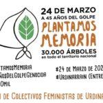 Plantarán un árbol en plazoleta de Urdinarrain en el Día de la Memoria por la Verdad y la Justicia