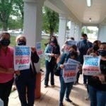 Trabajadores de salud de Urdinarrain afiliados a UPCN realizaron una asamblea reclamando mejoras salariales