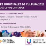 Abrieron las inscripciones para los Talleres Municipales de Cultura 2021