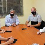 El intendente Sergio Martinez mantuvo reuniones de trabajo con funcionarios nacionales en Larroque
