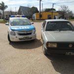 Chocaron el móvil policial y otro auto en la esquina de Blvr San Martín y Andrade